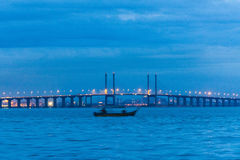 Blue hour landscape view Stock Images