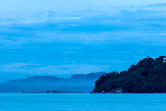 Blue hour landscape view Royalty Free Stock Photo