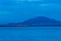 Blue hour landscape view Royalty Free Stock Photos