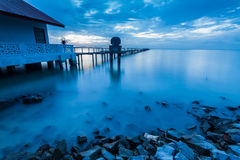 Blue hour landscape view Royalty Free Stock Images