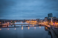 Blue hour in Limerick city Royalty Free Stock Photography