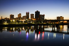 Blue hour in Little Rock Royalty Free Stock Image