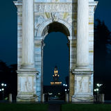 Blue hour in milan Royalty Free Stock Photography