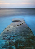 Blue Hour old Jetty stock images