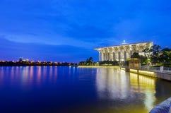Blue hour over Tuanku Mizan Zainal Abidin Mosque. Also known as Iron Mosque Royalty Free Stock Photo
