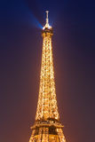 Blue Hour in Paris with the Eiffeltower Royalty Free Stock Photos