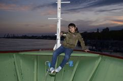 Blue hour photo. Aceasta fotografie a fost facuta la apus pe o nava din orasul Braila royalty free stock image