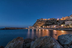 Blue Hour - Pizzo Calabro Royalty Free Stock Images