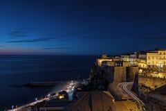 Blue Hour - Pizzo Calabro Royalty Free Stock Photos