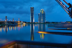Blue Hour at Putrajaya Dam Stock Images