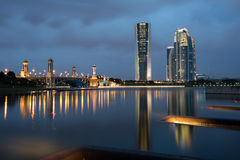 Blue Hour at Putrajaya Dam Stock Photography