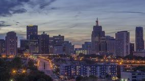 A Blue Hour Skyline Shot of Downtown St. Paul, Minnesota