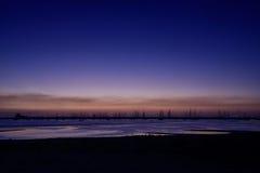 St Kilda Sunset. Blue hour view at St Kilda Pier Stock Photos
