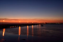 St Kilda Sunset. Blue hour view at St Kilda Pier Royalty Free Stock Image