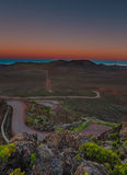 Blue hour on volcano. Royalty Free Stock Images