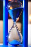Blue Hourglass Closeup Stock Photos