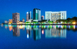 blue hours at kuching city royalty free stock photos