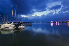 Blue Hours at the marina, Danga Bay, Malaysia Stock Photos