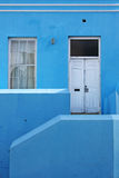 Blue house. Beautiful blue façade in Bo-Kaap or Cape Malay Quarter in Cape Town, South Africa royalty free stock photo