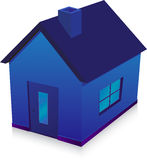 Blue house Royalty Free Stock Images