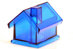Blue house. Plastic blue house isolated on white Royalty Free Stock Image