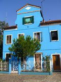 Blue House. Painted cottage, Burano island, Venice Stock Images