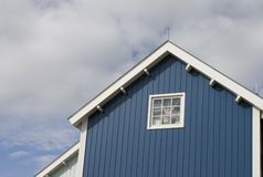 Blue house. A blue dutch house Stock Photos