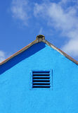 Blue house against the sky Royalty Free Stock Photography