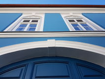 Blue house. Beauty blue house Stock Image