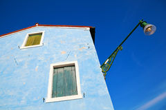 Blue house in Burano Stock Photo