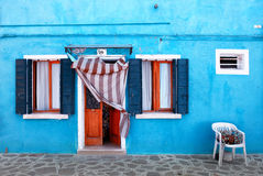 Blue house on Burano Royalty Free Stock Photography