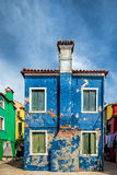 Blue house In Burano Royalty Free Stock Photography