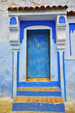 Blue house in Chefchaouen Royalty Free Stock Photos