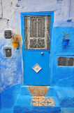 Blue house of Chefchaouen Stock Image