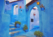 Blue house of Chefchaouen. Morocco royalty free stock photography