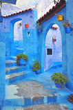 Blue house in Chefchaouen Stock Photography