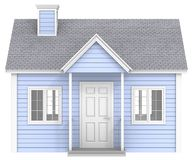 Blue House. Royalty Free Stock Photo