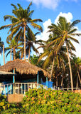 Blue house in Dominican Republic Stock Image