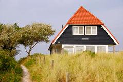 Blue house on the Island of Vlieland Stock Photography