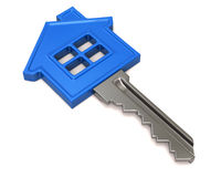 Blue house key Royalty Free Stock Images