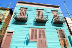 Blue   house of La Boca Stock Photography