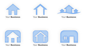 Blue House Logos Stock Photo