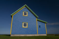 Blue House on Magdalen Islands Stock Images