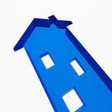 Blue house metaphore concept Royalty Free Stock Photo