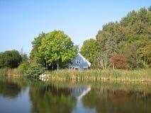 Blue_house_Netherlands Royalty Free Stock Photo