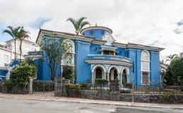 Blue House in Sao Paulo Stock Photo