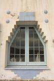 Blue House, symbol of Cadaques, Costa Brava, Spain royalty free stock photo