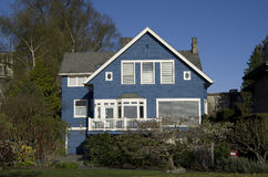 Blue house Stock Image