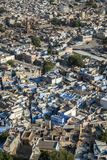 Blue houses in the city of Jodhpur in Rajasthan Stock Image