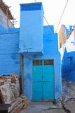 Blue Houses Of The Hindu Brahmin Caste Royalty Free Stock Photo